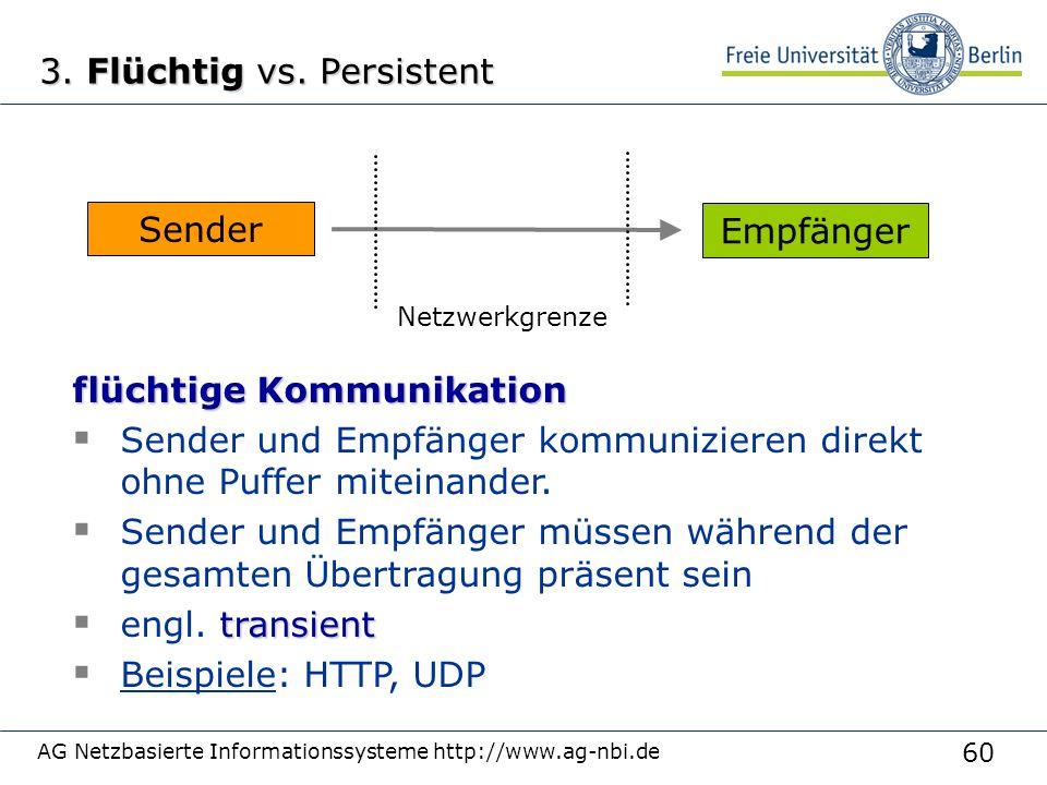 60 AG Netzbasierte Informationssysteme http://www.ag-nbi.de 3.