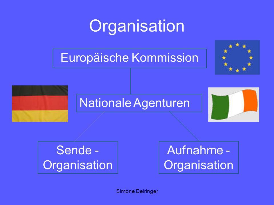 Simone Deiringer Organisation Europäische Kommission Nationale Agenturen Sende - Organisation Aufnahme - Organisation