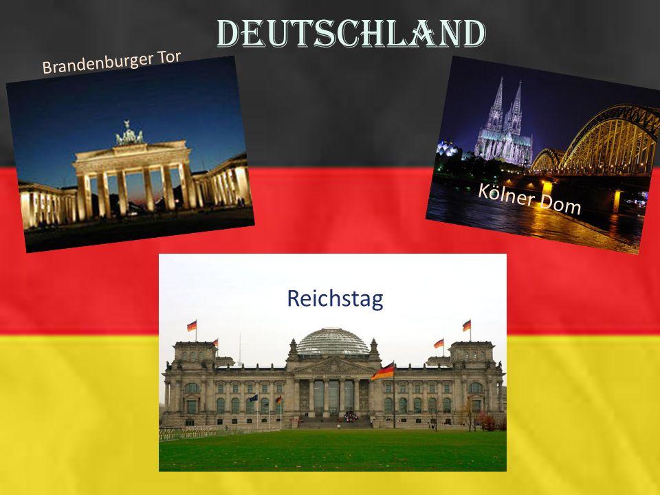 Deutschland Brandenburger Tor Kölner Dom Reichstag