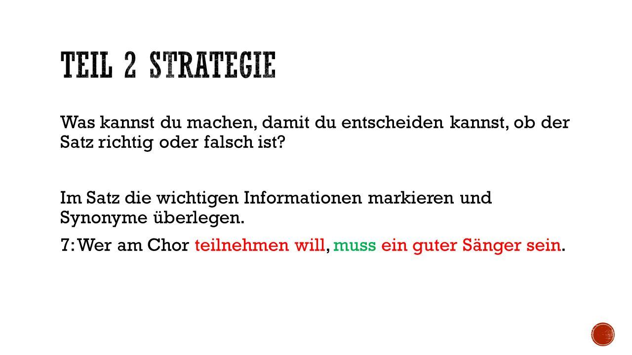 Aufgabe: Markiere die wichtigen Informationen in Satz 14-20 und notiere die Unterschiede.