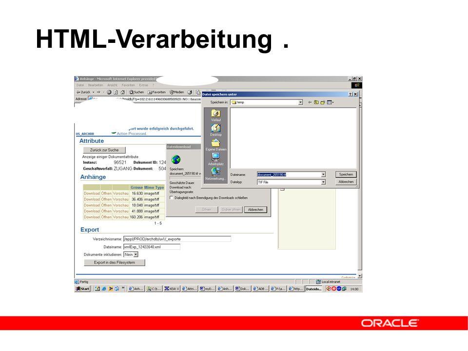 HTML-Verarbeitung.