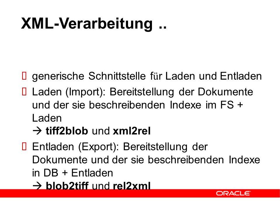 XML-Verarbeitung..