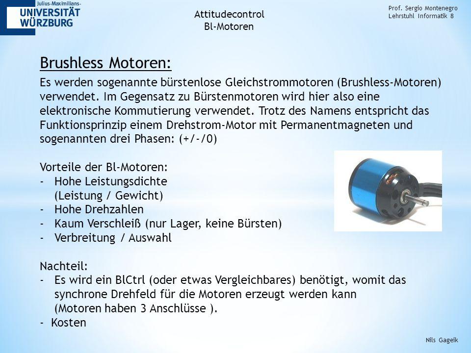 Brushless Controller von Mikrokopter: Prof.