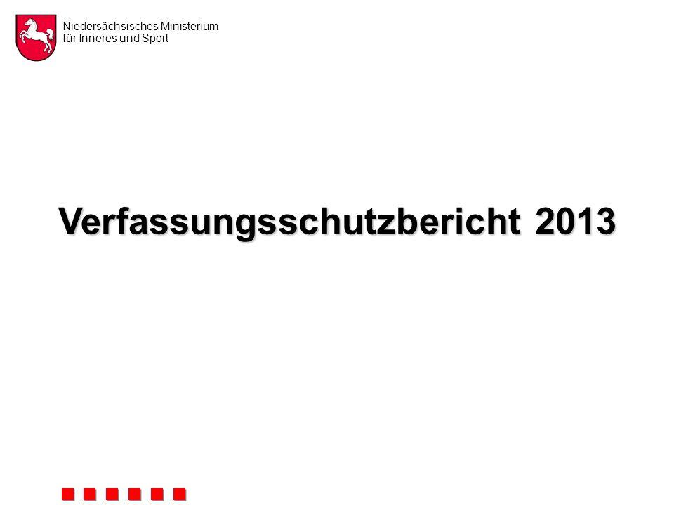 Niedersächsisches Ministerium für Inneres und Sport Verfassungsschutzbericht 2013