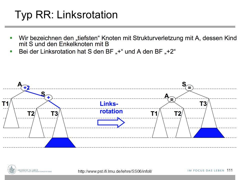 Typ RR: Linksrotation 111 http://www.pst.ifi.lmu.de/lehre/SS06/infoII/