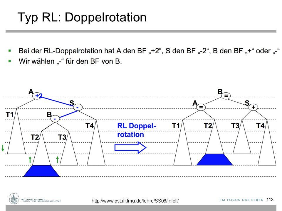 Typ RL: Doppelrotation 113 http://www.pst.ifi.lmu.de/lehre/SS06/infoII/