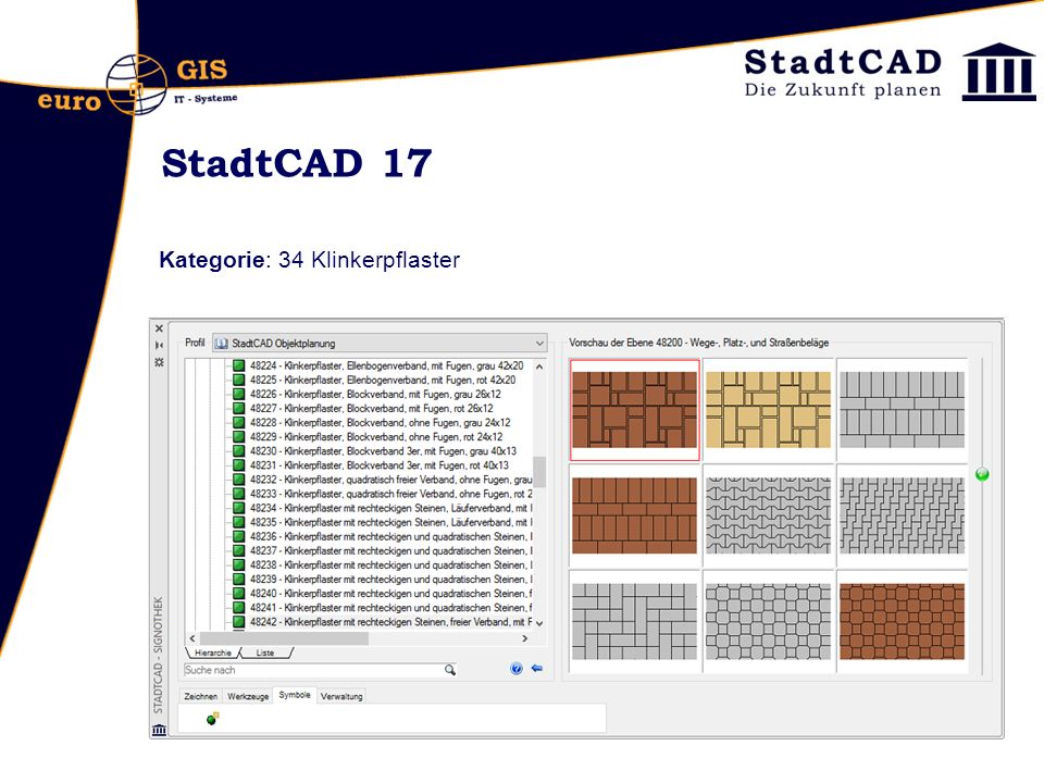 StadtCAD 17 Kategorie: 34 Klinkerpflaster