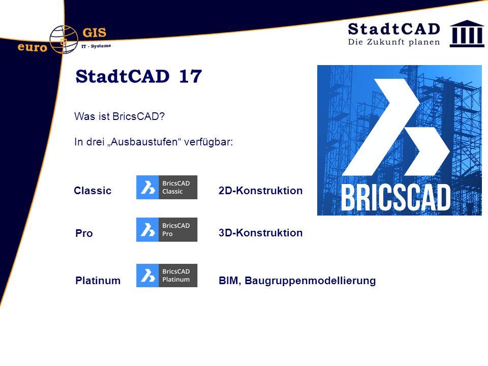 Objektverwaltung: Export/Import von Objektgruppen möglich Standallone: Objektverwaltung und Projektmanager ohne CAD- Plattform möglich.