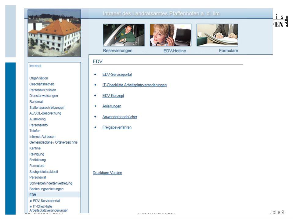 22. Oktober 2014Robert Rambach Folie 9 Informationen des EDV-Team