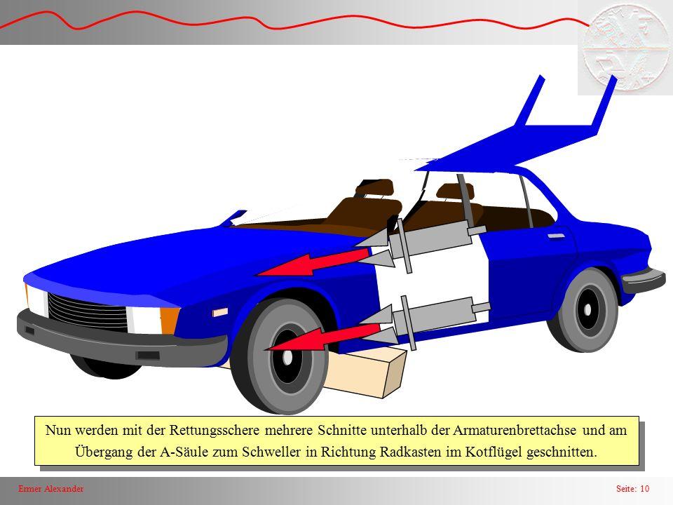 Seite: 11Ermer Alexander Jetzt kann der komplette Kotflügel zwischen Radkasten und Ä-Säule weggespreizt werden.