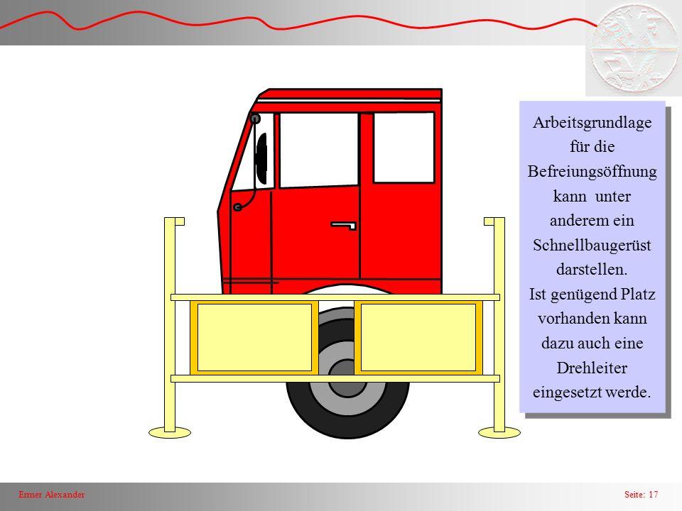 Seite: 18Ermer Alexander Ansatz zum Herausspreizen der Fahrertür bei einem LKW
