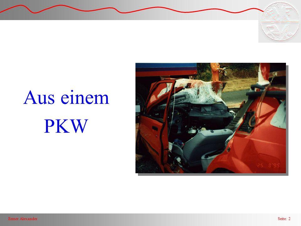 Seite: 3Ermer Alexander Wirkungsbereich Airbag Unfallanalysen zeigen eindeutig, daß mehr als zwei Drittel aller Unfälle den Vorderwagen betreffen.