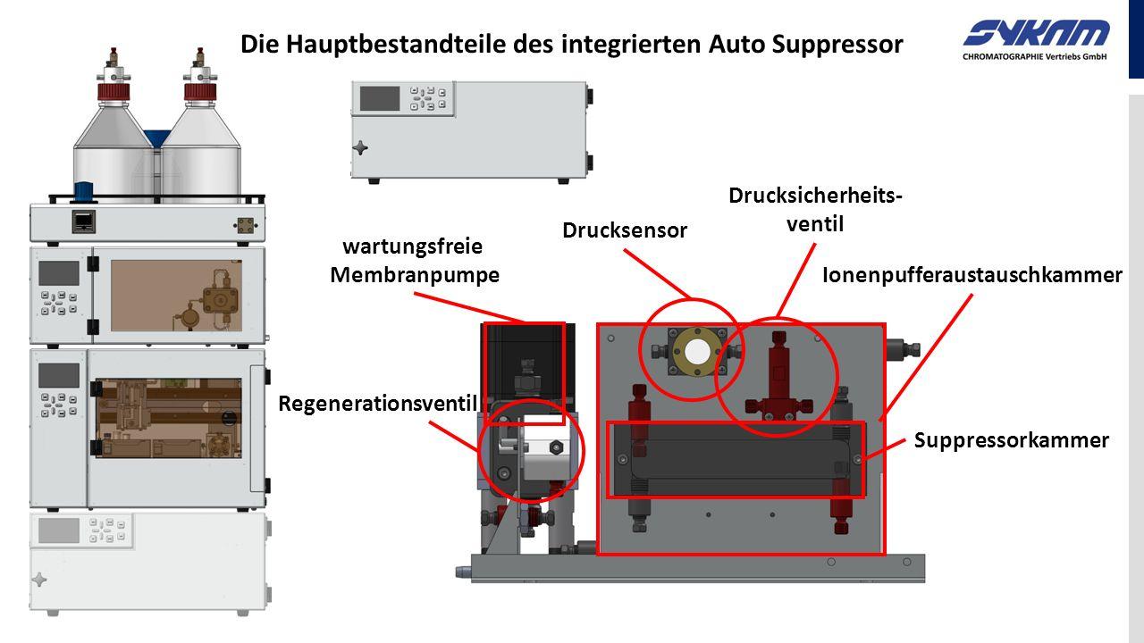 Die Hauptbestandteile des integrierten Auto Suppressor Drucksensor Drucksicherheits- ventil Regenerationsventil Ionenpufferaustauschkammer wartungsfre