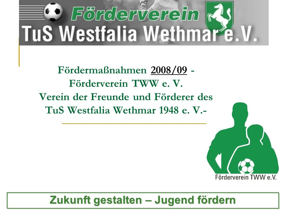 Fördermaßnahmen 2008/09 - Förderverein TWW e.V.