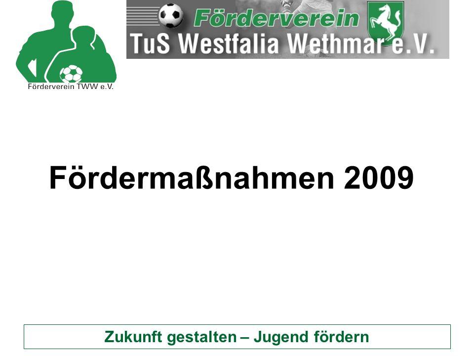 Zukunft gestalten – Jugend fördern Fördermaßnahmen 2009