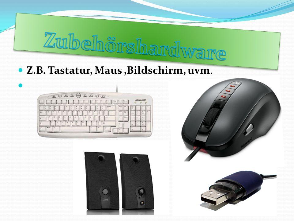 Z.B. Tastatur, Maus,Bildschirm, uvm.