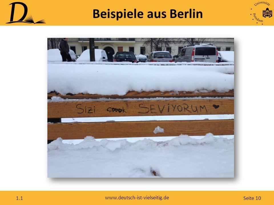 Seite 10 www.deutsch-ist-vielseitig.de 1.1 Beispiele aus Berlin