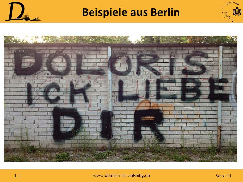 Seite 11 www.deutsch-ist-vielseitig.de 1.1 Beispiele aus Berlin