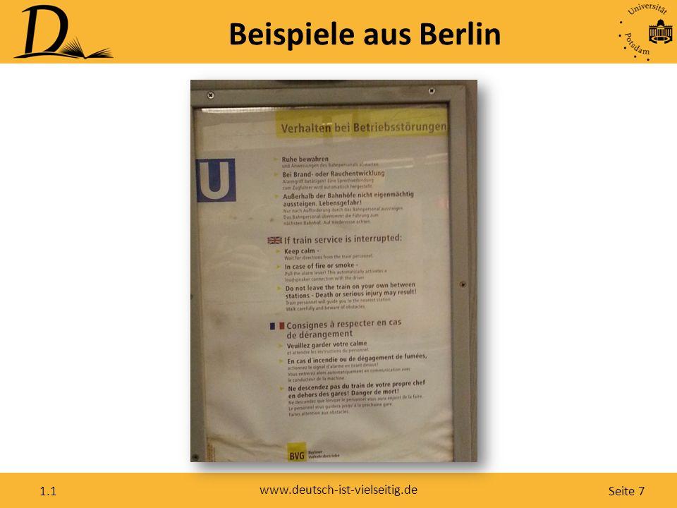 Seite 7 www.deutsch-ist-vielseitig.de 1.1 Beispiele aus Berlin