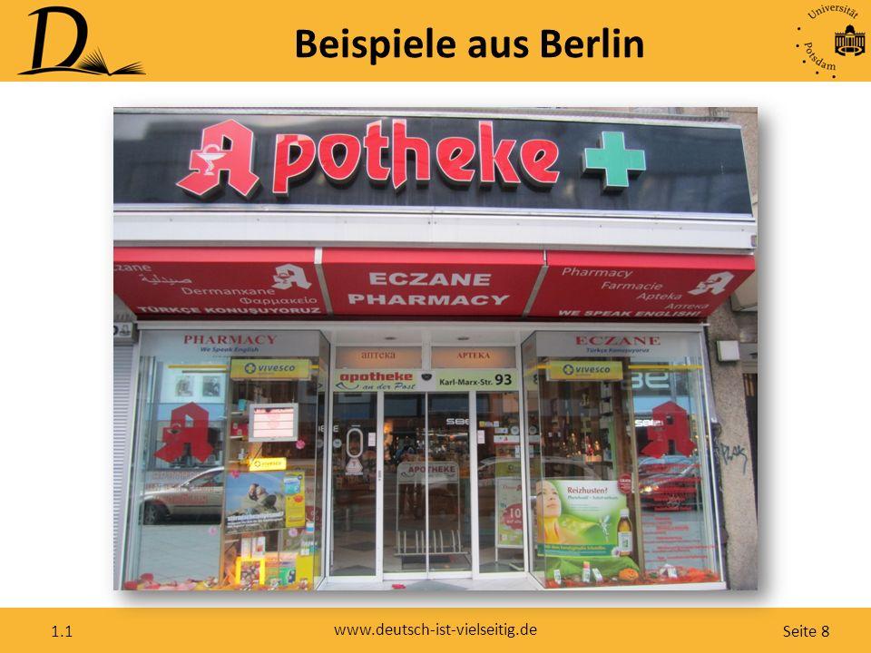 Seite 8 www.deutsch-ist-vielseitig.de 1.1 Beispiele aus Berlin