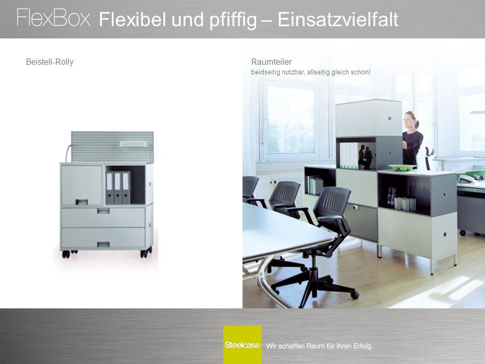 Flexibel und pfiffig – Einsatzvielfalt Beistell-RollyRaumteiler beidseitig nutzbar, allseitig gleich schön!