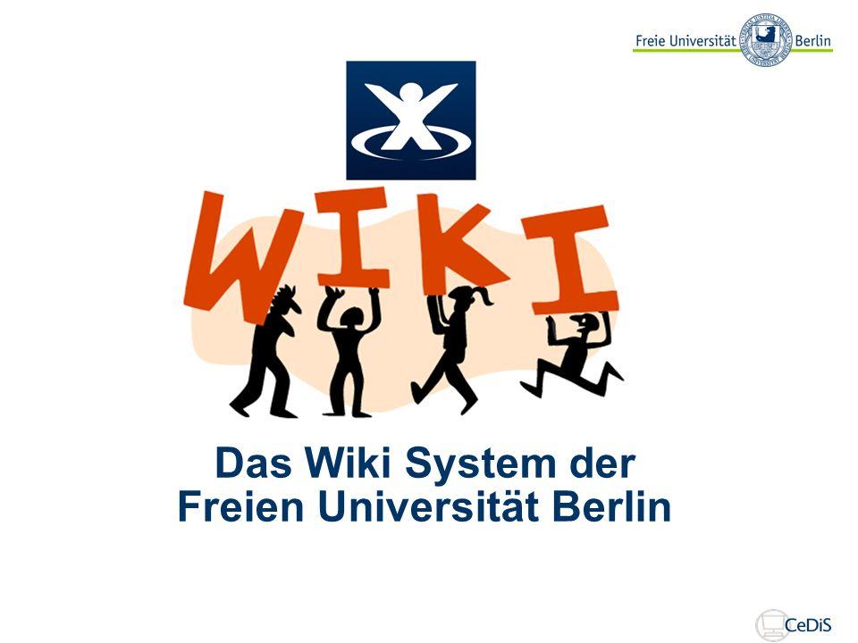 Das Wiki System der Freien Universität Berlin