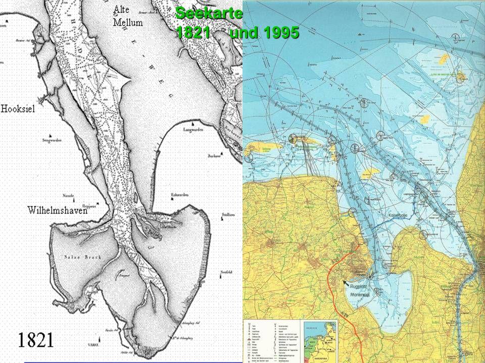 Seekarte 1821 und 1995