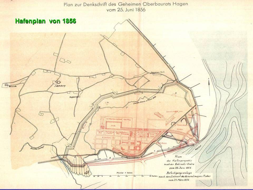 Hafenplan von 1856
