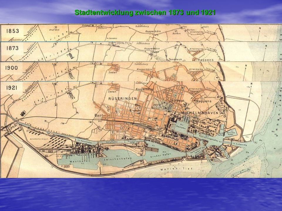 Stadtentwicklung zwischen 1873 und 1921