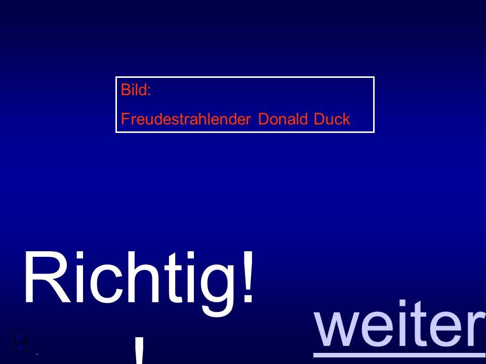 - Falsc h zurück Bild: Wütender Donald Duck