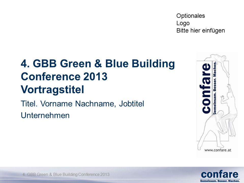 4. GBB Green & Blue Building Conference 2013 4.