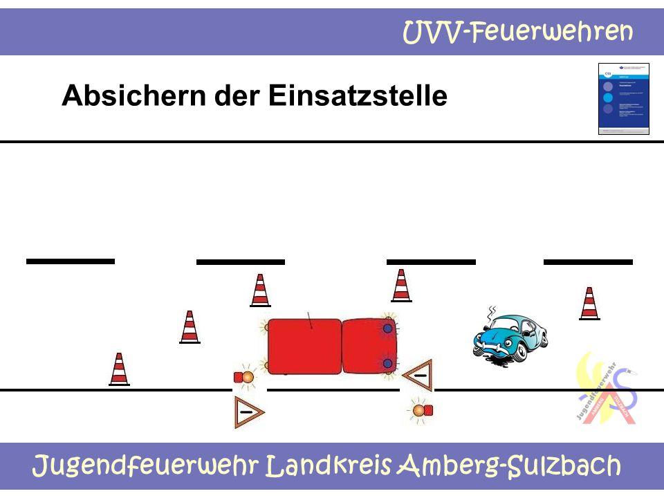 Jugendfeuerwehr Landkreis Amberg-Sulzbach UVV-Feuerwehren Absichern der Einsatzstelle