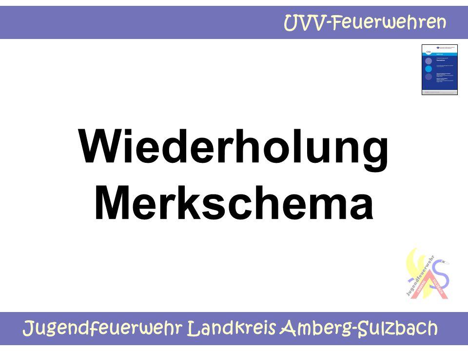 Jugendfeuerwehr Landkreis Amberg-Sulzbach UVV-Feuerwehren Wiederholung Merkschema
