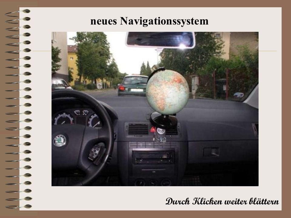Durch Klicken weiter blättern neues Navigationssystem