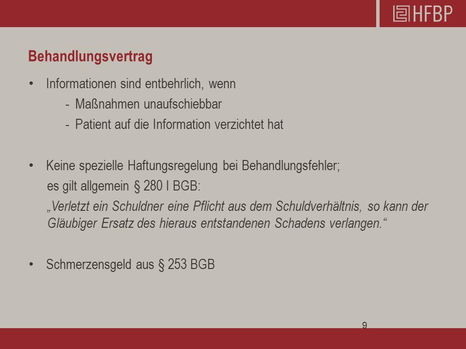 Aufklärung und Einwilligung Der Heileingriff erfüllt nach ständiger Rechtsprechung immer noch den Tatbestand der Körperverletzung nach § 223 StGB.