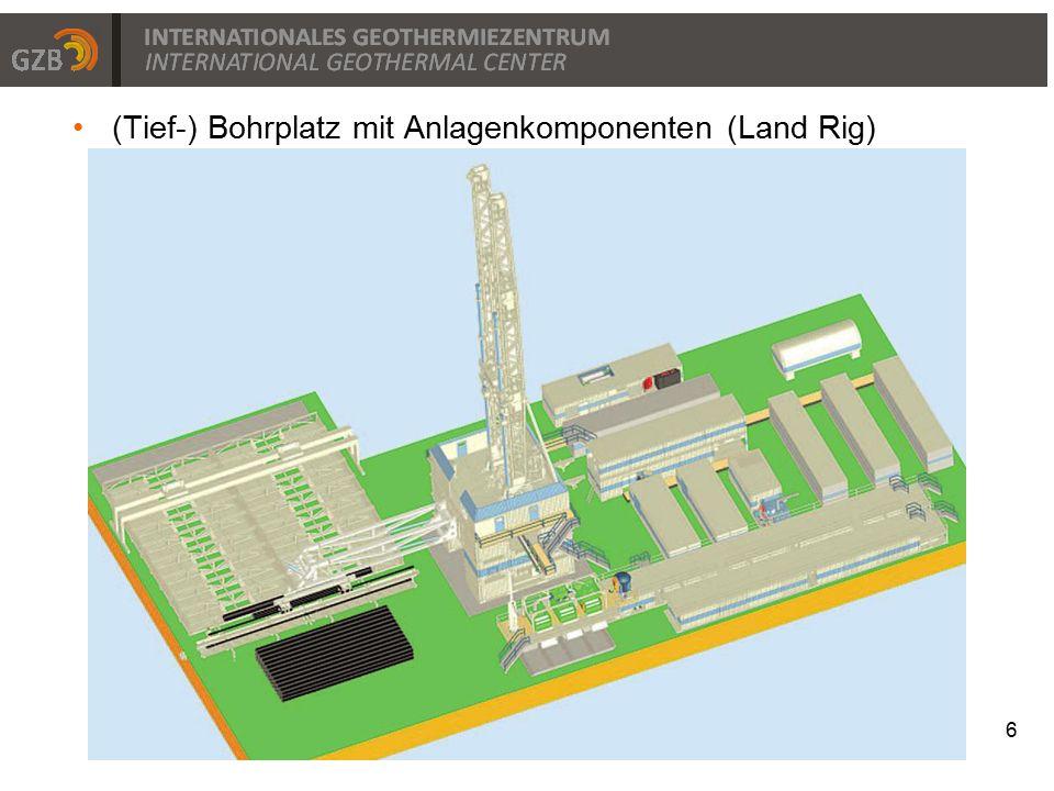 (Tief-) Bohrplatz mit Anlagenkomponenten (Land Rig) 6