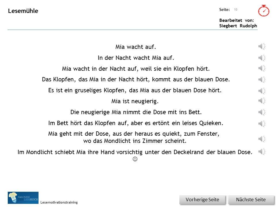 Übungsart: Seite: Bearbeitet von: Siegbert Rudolph Lesemotivationstraining Wörterschüttelautomat (Fantasiewörter) 9 BettdeckeBettdackeBettdackelBettwa