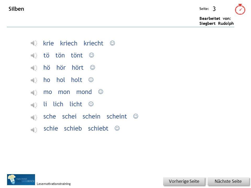 Übungsart: Seite: Bearbeitet von: Siegbert Rudolph Lesemotivationstraining 2 05 Tok tok tok Satz für Satz im Buch lesen und das Gelesene per Klick kon
