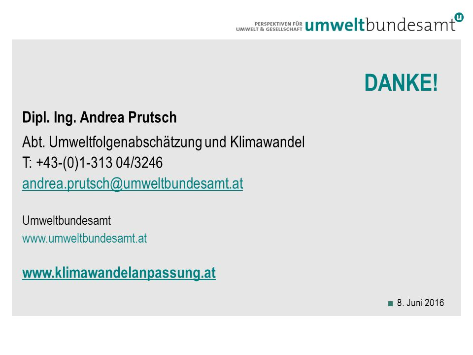 DANKE. Dipl. Ing. Andrea Prutsch Abt.