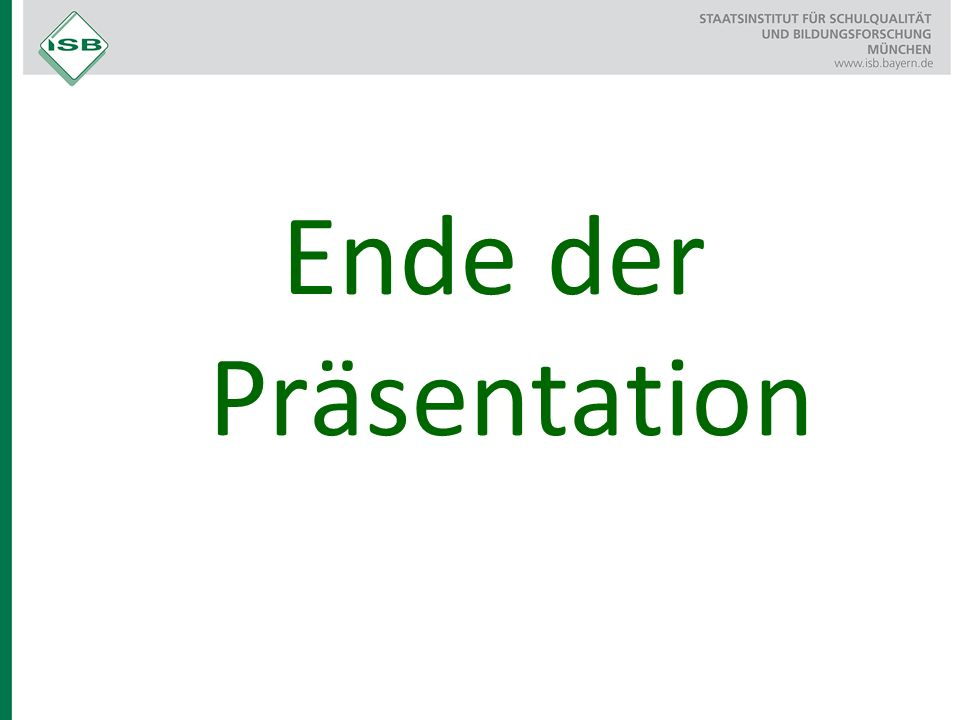 Ende der Präsentation