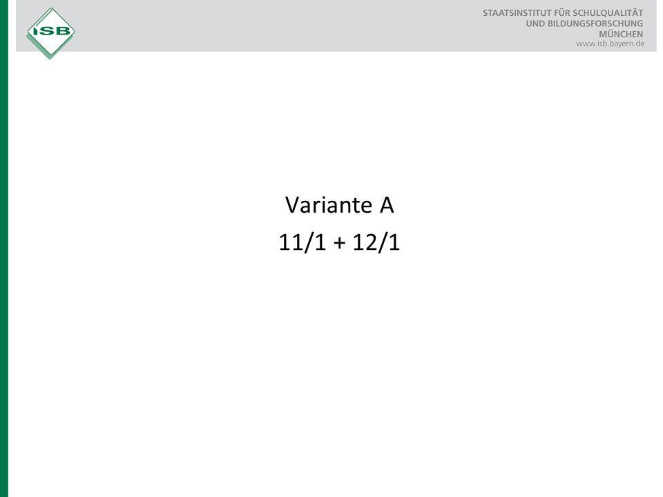 Variante A 11/1 + 12/1