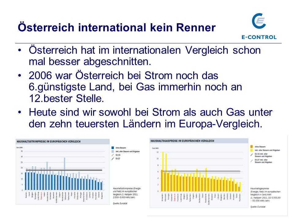 Pressekonferenz, Präsentation Jahresbericht 2011, 15.3.2012 11 Österreich international kein Renner Österreich hat im internationalen Vergleich schon mal besser abgeschnitten.