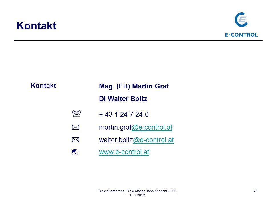 Pressekonferenz, Präsentation Jahresbericht 2011, 15.3.2012 25 Mag.