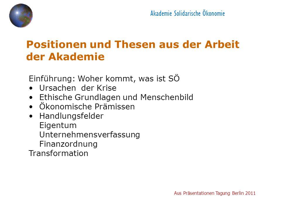 Akademie Solidarische Ökonomie Woher kommt SÖ.(Historie u.