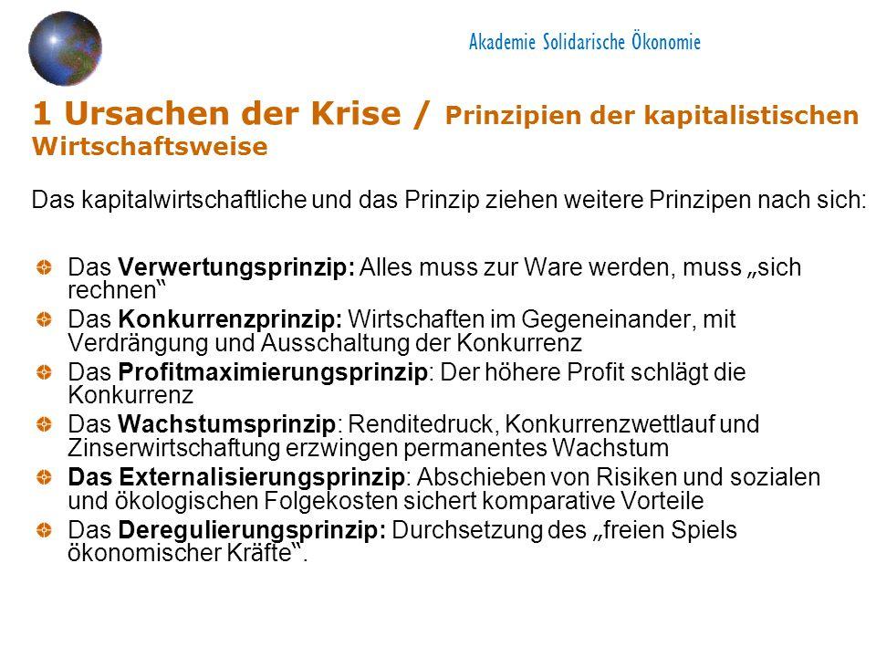 Akademie Solidarische Ökonomie 6 Transformation - Grundfragen Alternatives Wirtschaften vs.