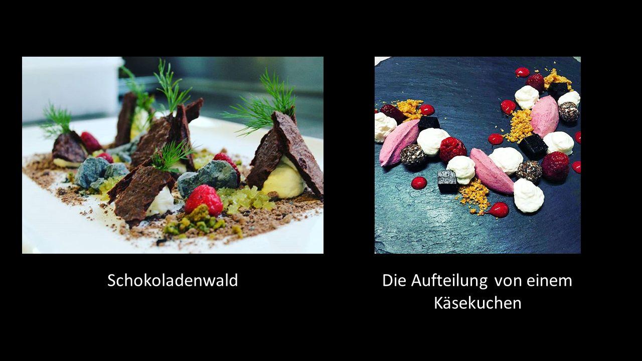 SchokoladenwaldDie Aufteilung von einem Käsekuchen