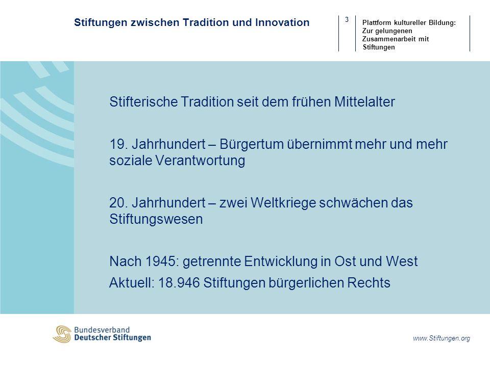 4 www.Stiftungen.org Plattform kultureller Bildung: Zur gelungenen Zusammenarbeit mit Stiftungen Was ist eine Stiftung.