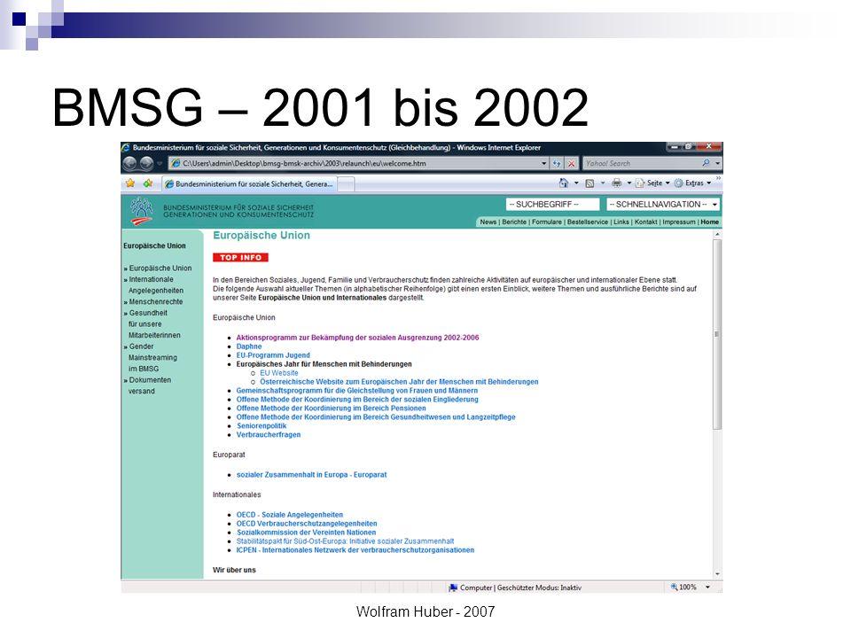 Wolfram Huber - 2007 Anforderungen Adaptierung nach WAI A ca.
