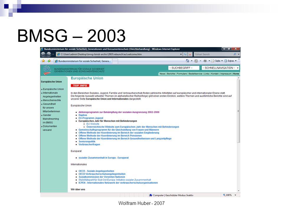 Wolfram Huber - 2007 BMSG – 2003
