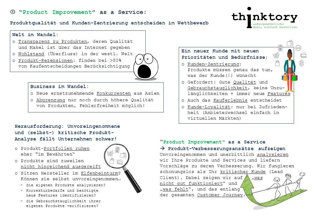  Product Improvement as a Service: Warum ein externer Produkt- Entwickler gut helfen kann.